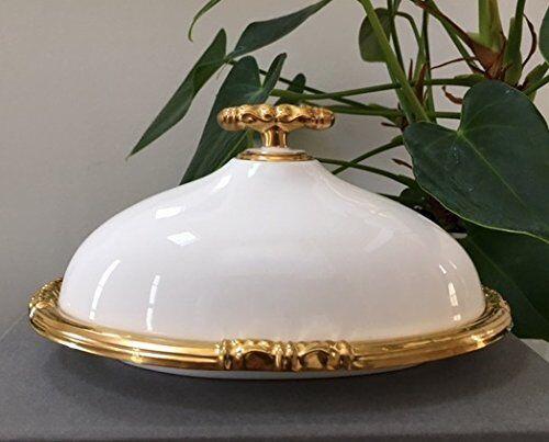 Neu Katy Briscoe 2 Stück Bedeckt Oval Butterdose Armreifen 24 K Gold Geschenkbox