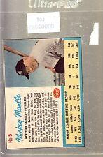 1962 POST #5 MICKEY MANTLE YANKEES AD BACK LIFE MAG VG # 002085
