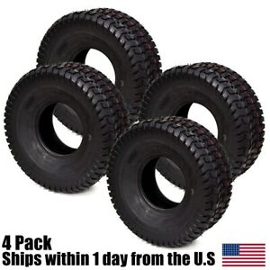 4PK-15-6-00-6-15-6-00x6-Kubota-T2080-Lawn-Mower-Turf-4PLY-Tubeless-Tires