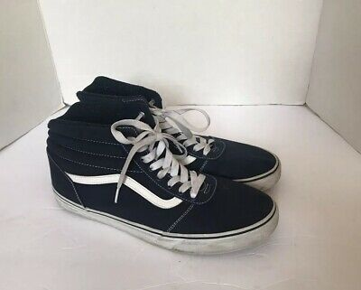 Vans Mens Atwood Navy Canvas Low Top Lace Up Sneakers 500714