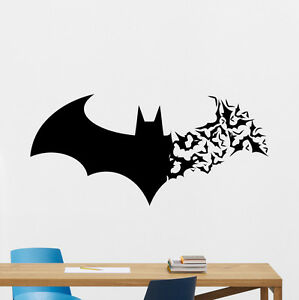 Superb Image Is Loading Batman Wall Decal Bat Logo Superhero Vinyl Sticker