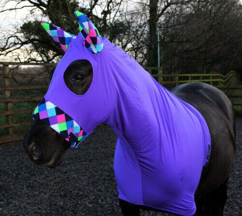 BESPOKE Viola Lycra Cavallo Cappuccio con cappuccio in pile trim Cavallo, Cavallo con Cappuccio