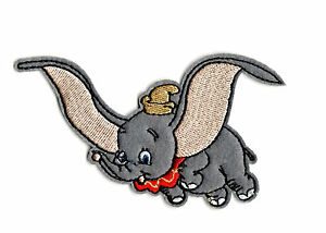 DUMBO-Iron-on-Patch-Embroidered-Badge-Cartoon-Elephant-Sew-PT81