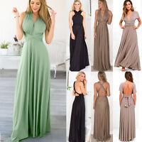 Sexy Women Convertible Multi Way Wrap Evening Party Bridesmaid Maxi Long Dress