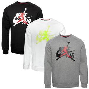 Details zu Nike Jordan Jumpman Classics Crew Pullover Men Freizeit Shirt Sweatshirt BV6006