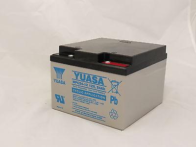 Yuasa NPC24-12 Golf Trolly Battery, 12V 24AH, 27 Hole, AGM Cyclic