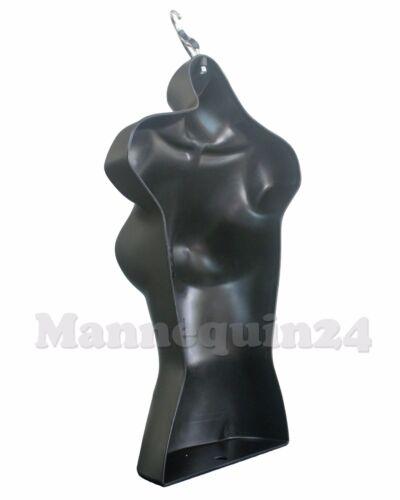 6 Black Mannequin Female Torsos Lot of 6 pcs of Women/'s Hanging Dress Forms