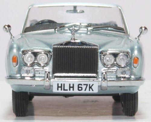 Oxford Diecast 1/43 1972 Rolls-Royce Corniche Cabrio Silber Blau 43rrc003 Spielzeugautos