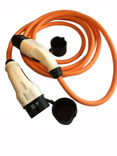 Tesla Modelo S ev Cable de carga rápido 32amp 5 M naranja tipo 2 al tipo 2 Con Estuche
