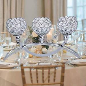 crystal candelabra votive candle holders wedding table centerpieces
