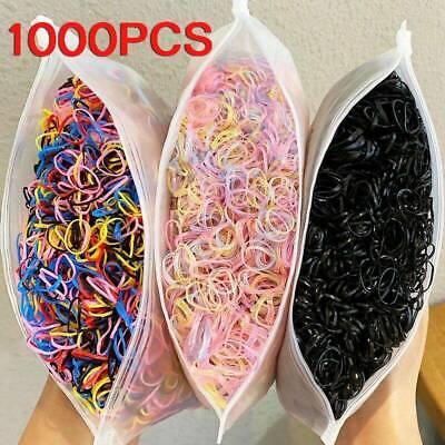 1000pcs Women Small Rubber Elastic Hairband Rope Hair Band Ring Ponytail Holder