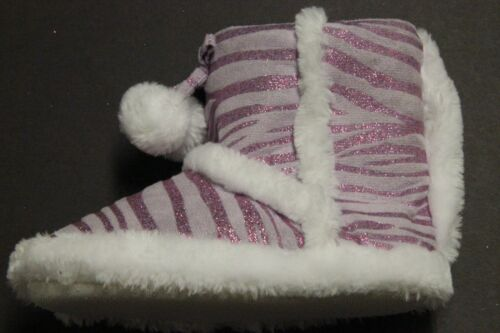 KIDS in cool slippers TODDLER SHOE SIZE L 9-10 PURPLE NON SKIDS COMFY 3