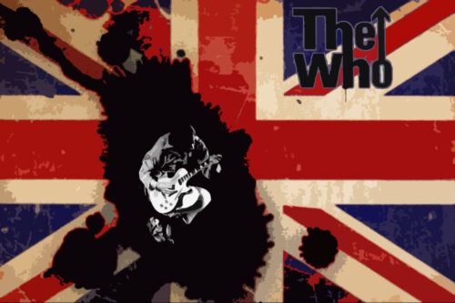 The Who pop art  Oil Painting 30x20 NOT a print or poster.Framing Available.