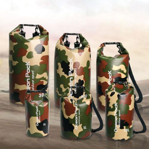 2L-30L PVC Waterproof Dry Bag Sack for Canoe Floating Boating Kayaking Camping