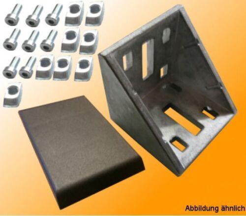 Angolo 60x60mm senza nasale per T-Nut Aluprofile B-tipo Nut 8