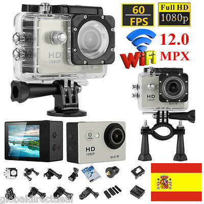 Y8-P FHD 1080P Cámara Deportiva Acción Video 12MP WIFI Impermeable Videocámara