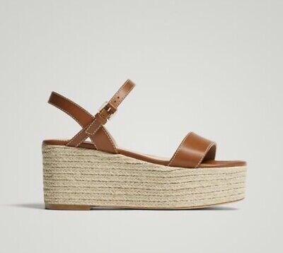 BNWT Massimo Dutti Brown Tan Leather