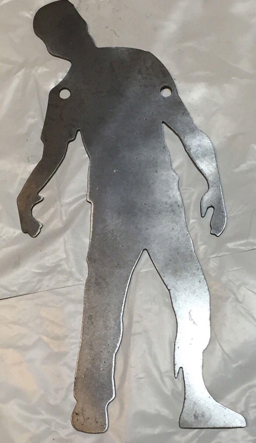 Gong de destino de acero AR500 Zombie silueta 24  X 12  X 3 8