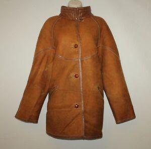 Coat Hip Winter sheepskin 16 Aleksander Size Length Vintage Leather 44 Tan Iq1T0
