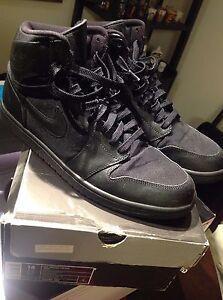 RARE Nike Air Jordan 1 Retro High 2009 Black Ostrich Sz 14  c08377549