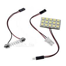 White LED Panel 15SMD 5050 car Interior Dome lights lamp T10 Festoon Ba9s - UK