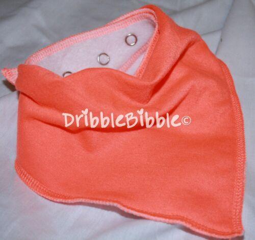 ❤ Baby Child Dribble Bib Catcher Dry Bandana Girl Boy Dog ❤ Florescent Orange ❤