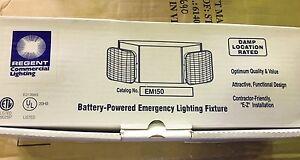 NEW-IN-BOX-REGANT-EM150-Battery-Powered-COMMERIAL-Emergency-Lighting-Fixture