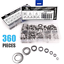 360Pcs 8 Sizes Stainless Steel Flat Washers Assortment Set M2 M2.5 M3 M4 M5 M6