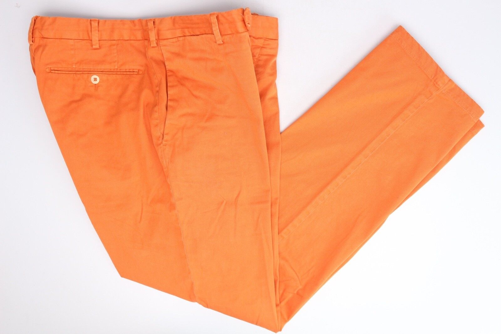Polo Ralph Lauren Mens Casual Pants 36x32 Solid orange Cotton Blend Trousers