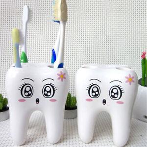 Teeth-Style-4-Hole-Cartoon-Toothbrush-Stand-Holder-Bathroom-Accessories-Chic