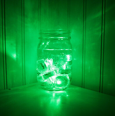 QTY 10 Green LED Submersible Underwater Tea lights TeaLight Flameless US Shipper