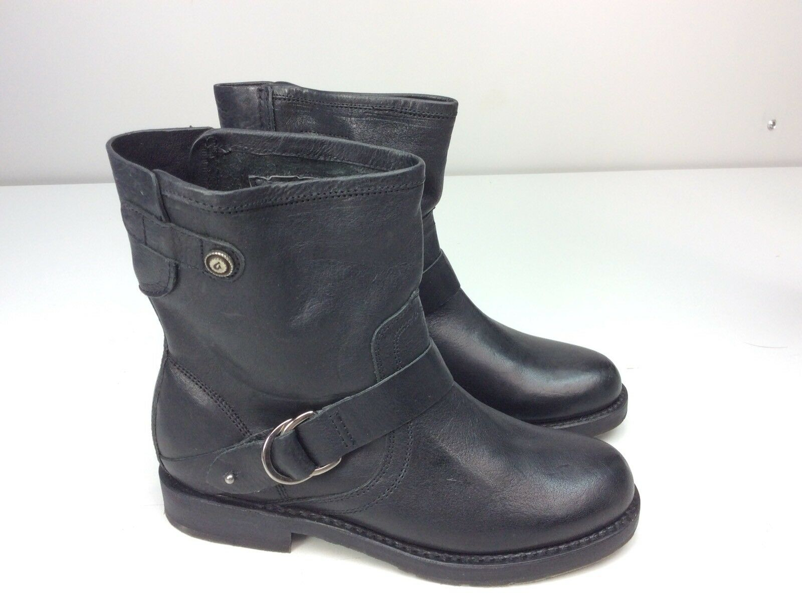 Olukai nahuku Pantalones cortos para mujer 7 botas De Cuero Negro Moto Talla Corta 7 mujer B 531d8f