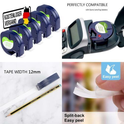 Aken Kompatibel Etikettenband Als Ersatz Für Dymo Letratag Papier Etikettenband