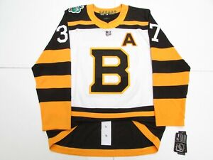 save off 920d1 30344 Details about BERGERON BOSTON BRUINS 2019 NHL WINTER CLASSIC ADIDAS  AUTHENTIC HOCKEY JERSEY