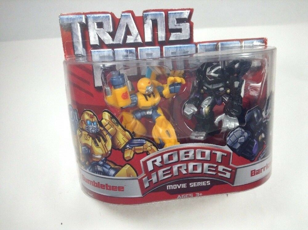 Transformers Robot Heroes  Bumblebee & Barricade  Hasbro Movie Series New Rare