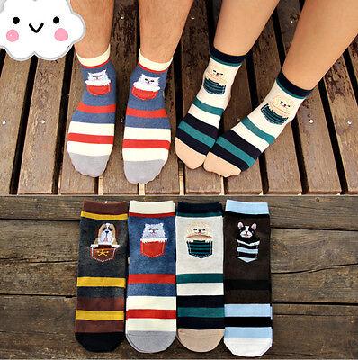 1Pair New Women's korea socks Cat Dog Pocket Pattern Socks