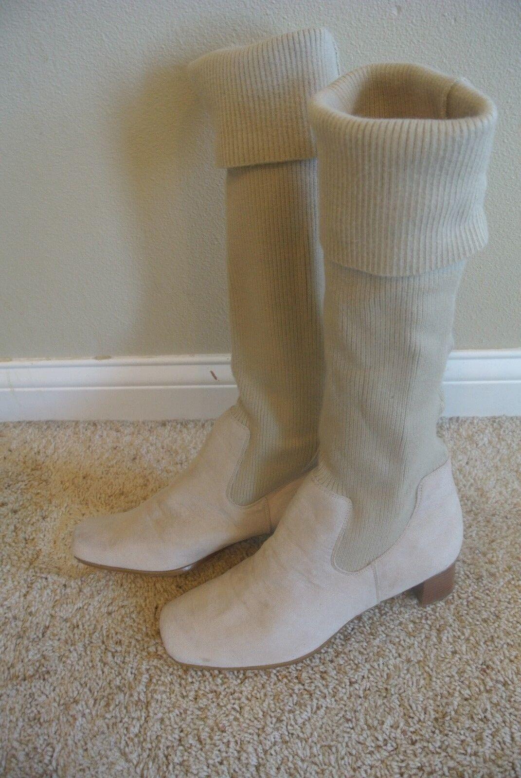 Markon Isabella Tan Faux Suede Sweater Knit Shaft Cuff Schuhe Stiefel Schuhe Cuff Größe 11 W Wide 172eff