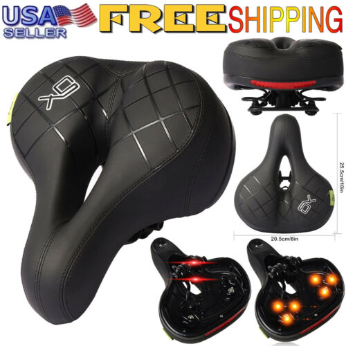 Comfort Wide Cruiser Bike Saddle Seat Soft Cushion Pad Breathable Cycling Seat