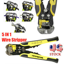 Self Adjusting Wire Stripper Cutter Crimper Cable Stripping Pliers Terminal Tool