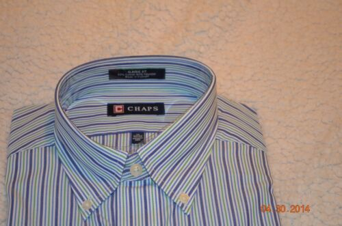 Chaps New Men/'s Dress shirt size 15-15 1//2 and 18-18 1//2 FREE SHIPPING NWT