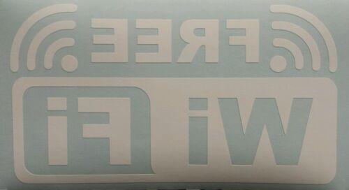 Free Wi Fi sign White reverse Shop cafe Window Vinyl graphics sticker wifi