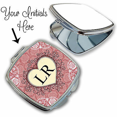 Butterfly print Personalised compact mirror Gift for her Pocket mirror gift