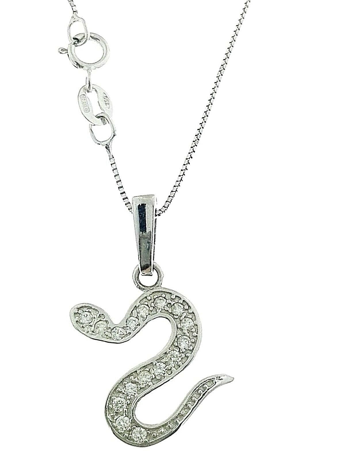 Collana Catenina Serpente Serpentel Donna oro Bianco 18 18 18 Kt Carati Ct 750 2 40 Gr 775574