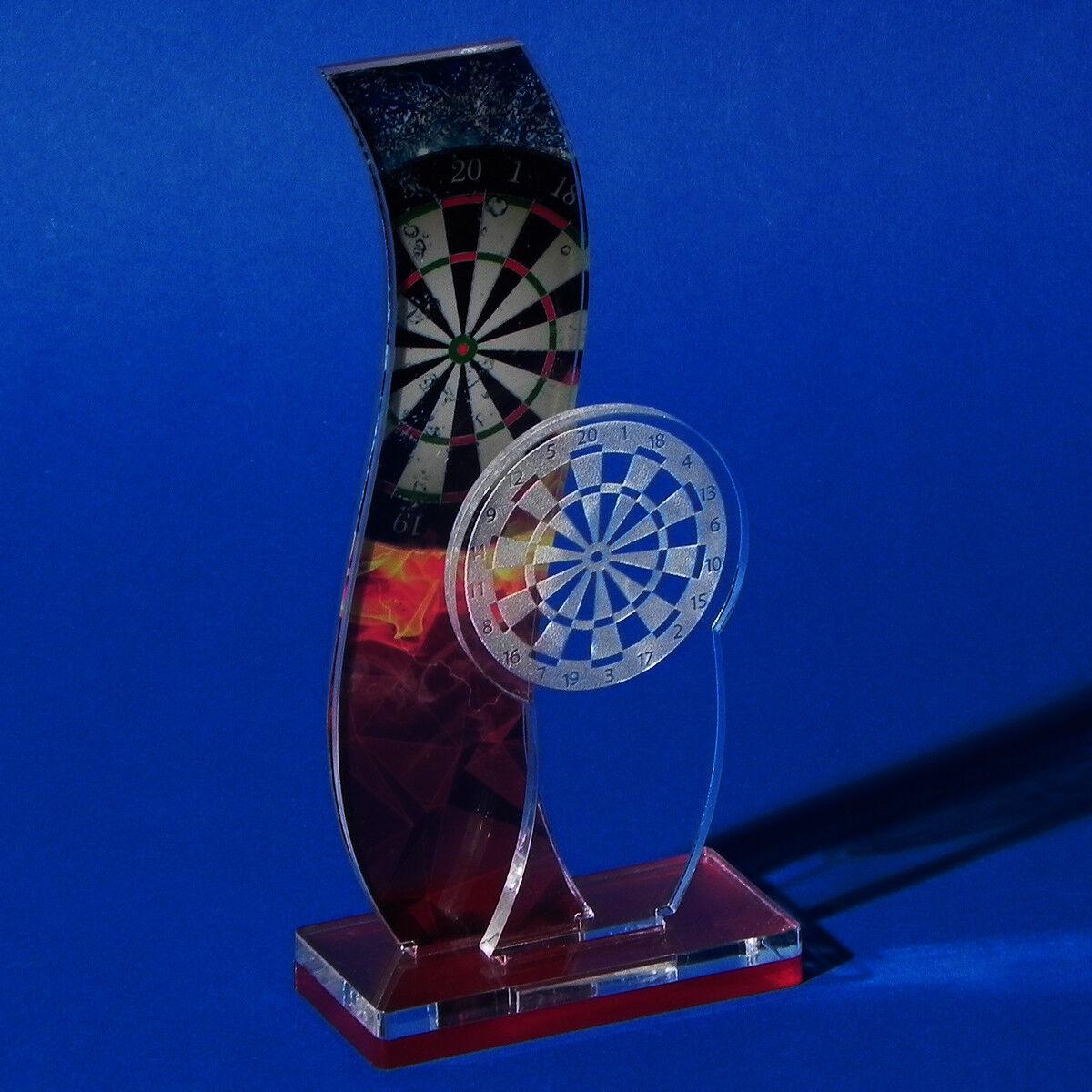 NEU • Pokal Dart Acrylgas inkl Gravur, Dart, EDart, Steeldart