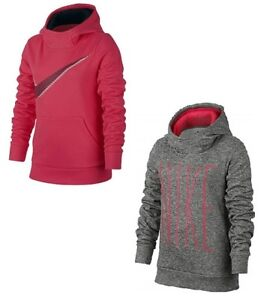sports shoes 67192 60aac Details about New Nike Girl's Therma-Fit Pullover Hoodie Pink Gray MSRP  $38.00