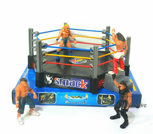 WWE 12 Action Figures Smack Down RAW Wrestler Superstar Fight Ring