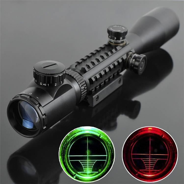 Óptica de caza rifle alcance 3-9x40 óptico Iluminado vista puntería