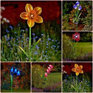 A Energie Solaire Verre Allumer Fleur Jardin Voie Exterieur Jeu De