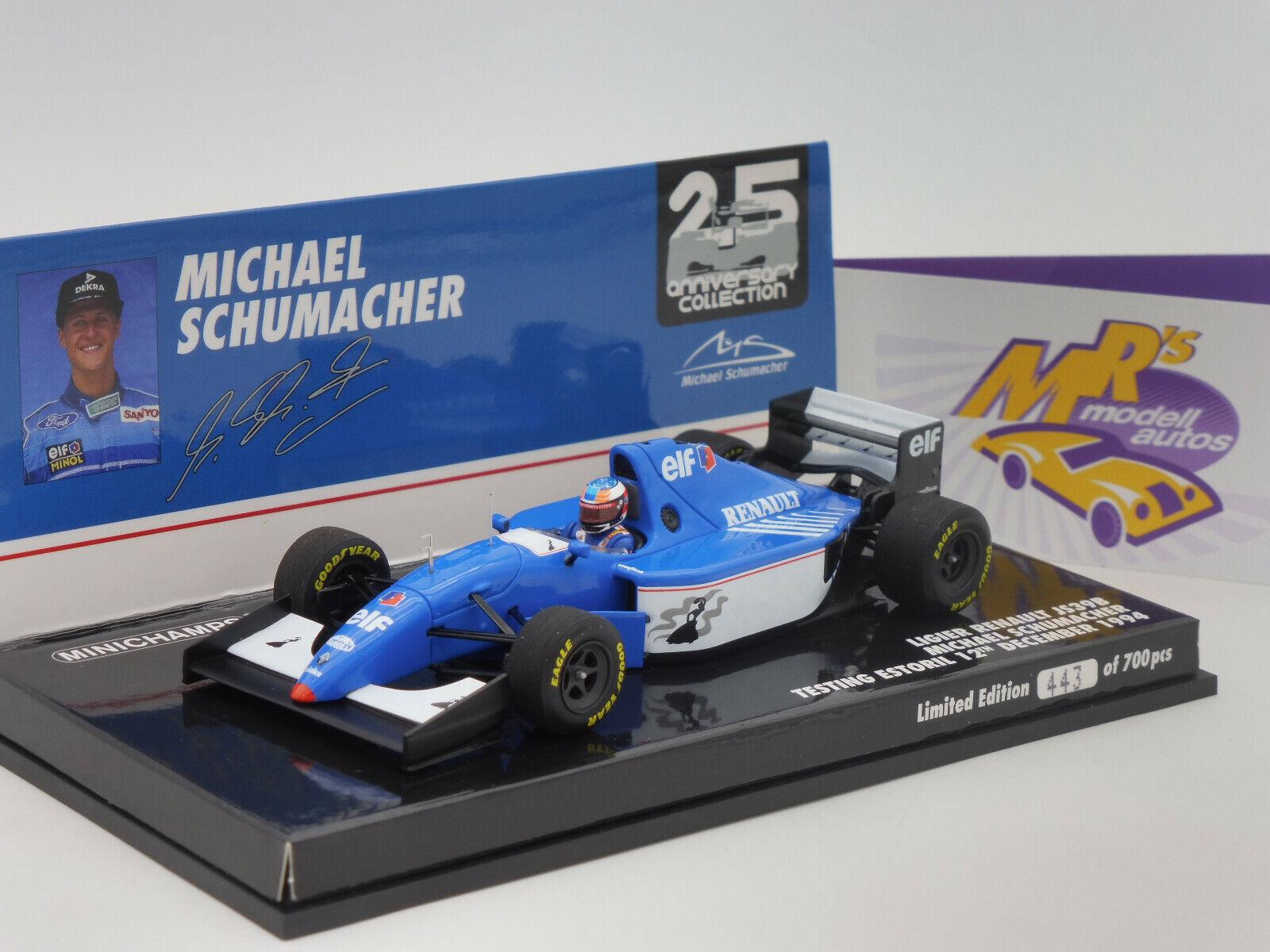 Minichamps 517944399   Ligier Ligier Renault JS39B Test Car 1994   M. Schumacher   1 43