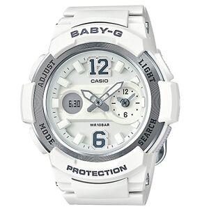Casio-Baby-G-BGA210-7B4-White-Silver-Digital-Analog-Women-039-s-BGA-210-7B4-Watch